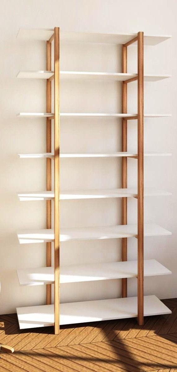 Biblioteca en madera maciza estanter a de madera moderna for Zapateras de madera modernas