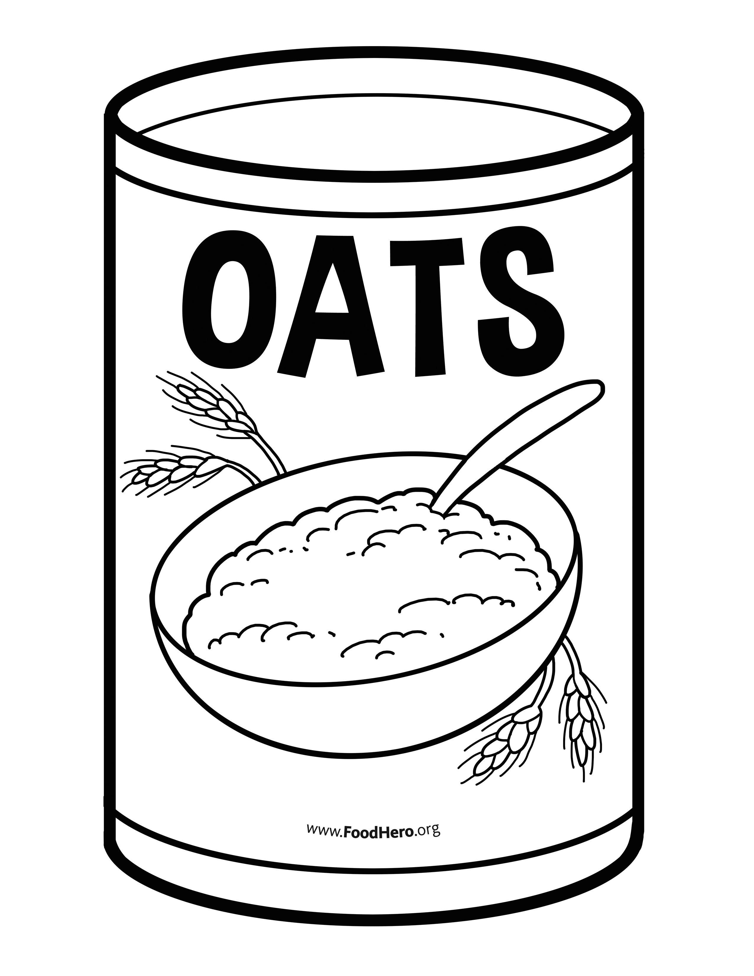 Oats School Illustration Foodhero Blackline