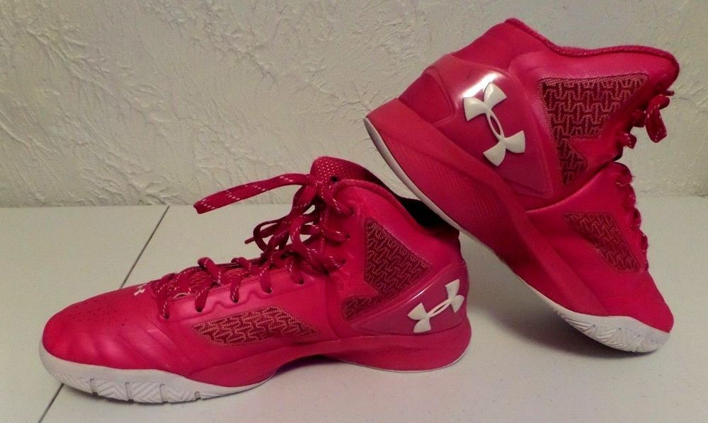 Under Armour Clutch Fit Basketball shoes Pink High Top ...