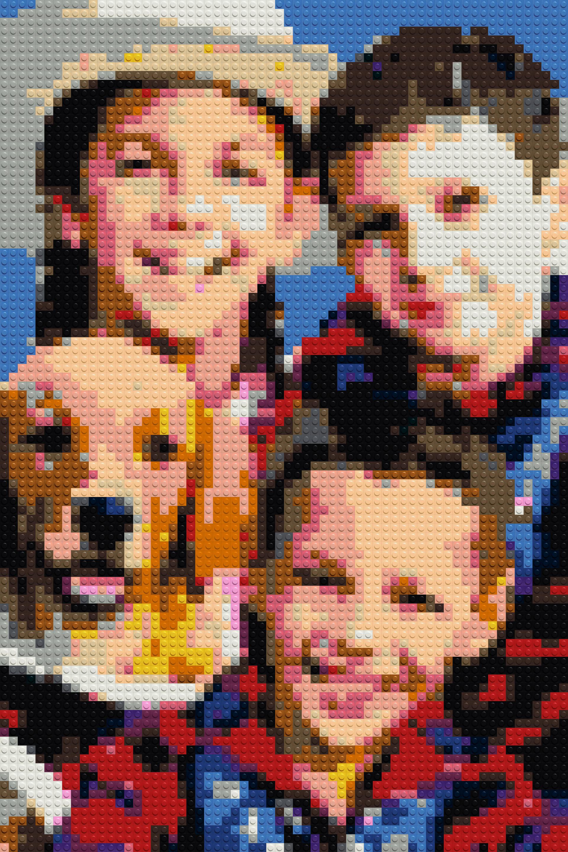 Brick Mosaic Pixel Art 30x20 77x51 Cm Family Pet Jigsaw Etsy Creative Wall Decor Lego Diy Crafts Funny Wall Decor
