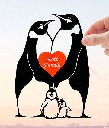 Penguins Family, First Wedding anniversary gift ideas ...