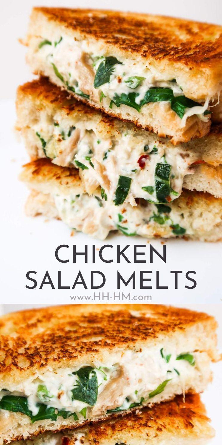 Chicken Salad Sandwich Melt Recipe - Her Highness,