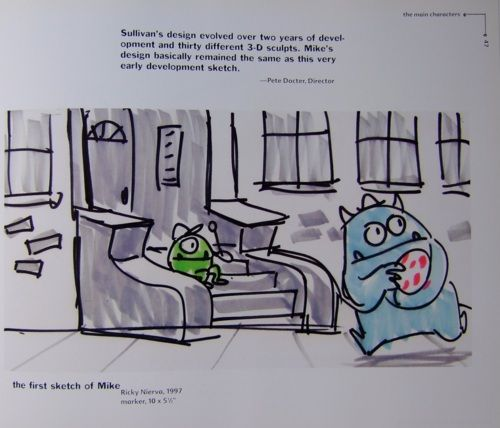 mike and sully concept art