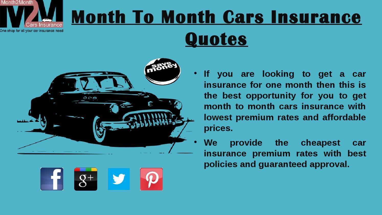 Progressive Car Insurance Quote Pre Paid Month To Month Car Insurance  Car Insurance And Cars
