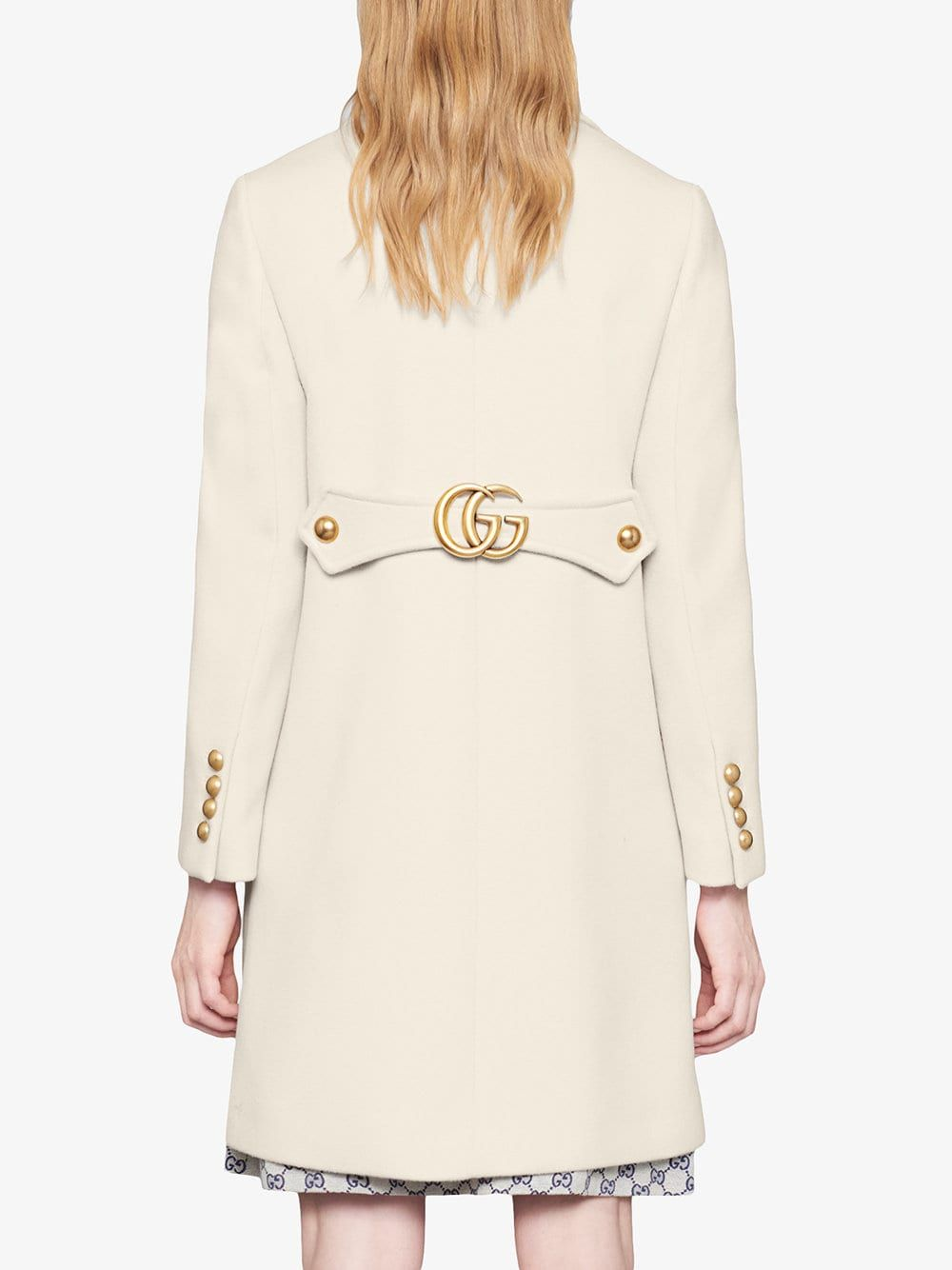 a528e7d44c1 Gucci Wool Coat With Double G in 2019