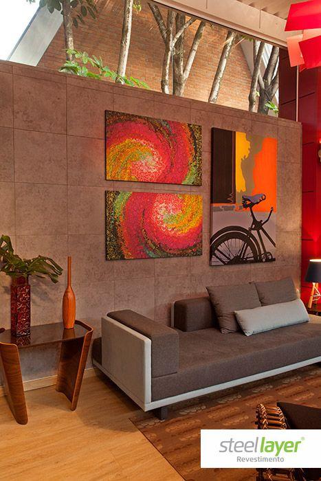 #steellayer #decor #decoracao #projeto #especial #special #interior #ambiente #livingroom #room #comfort #conforto #inovacao #exclusividade #inovacao #design #art #board #quadro #moveis