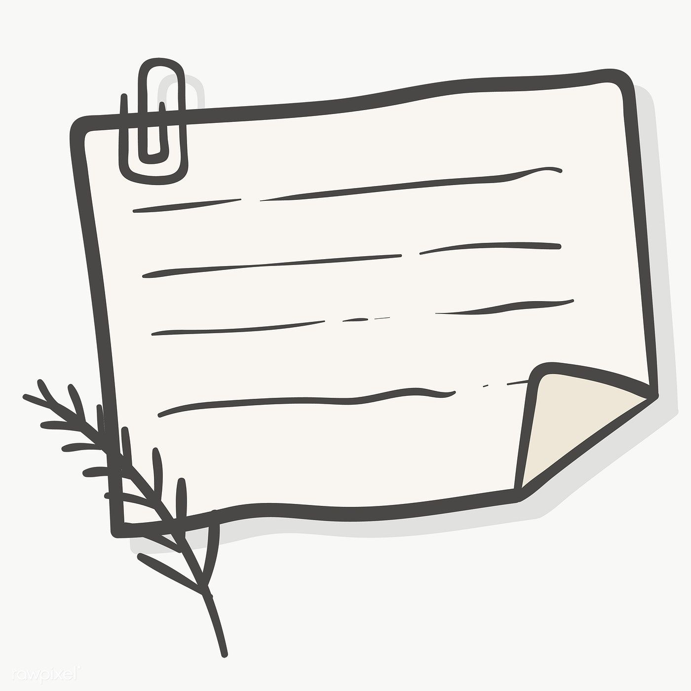 Blank Lined Paper Note With Paper Clip Transparent Png Free Image By Rawpixel Com Chayanit Note Paper Paper Illustration Paper Clip