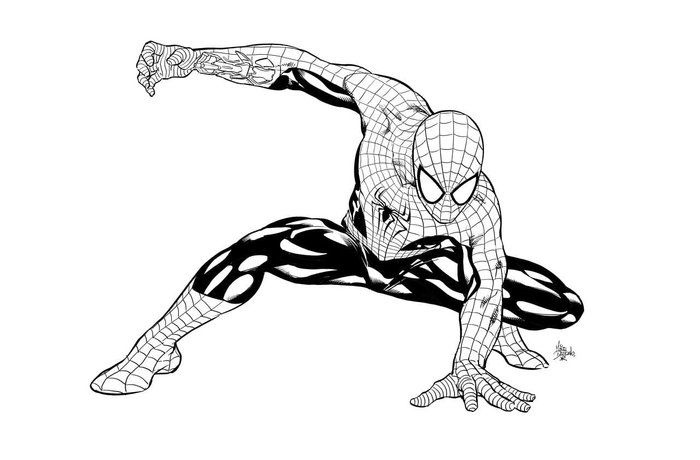 Black Suit Spiderman Coloring Pages Spiderman Coloring Spiderman Superhero Coloring