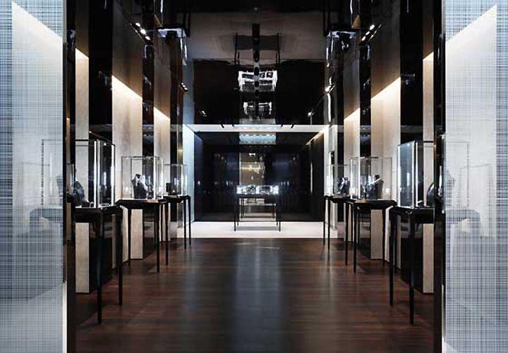 De beers jewelry by caps architecture interior design for Jewellery shop interior designs
