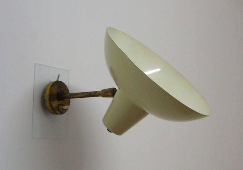 Vittorio vigano design applique anni 50 con paralume regolabile