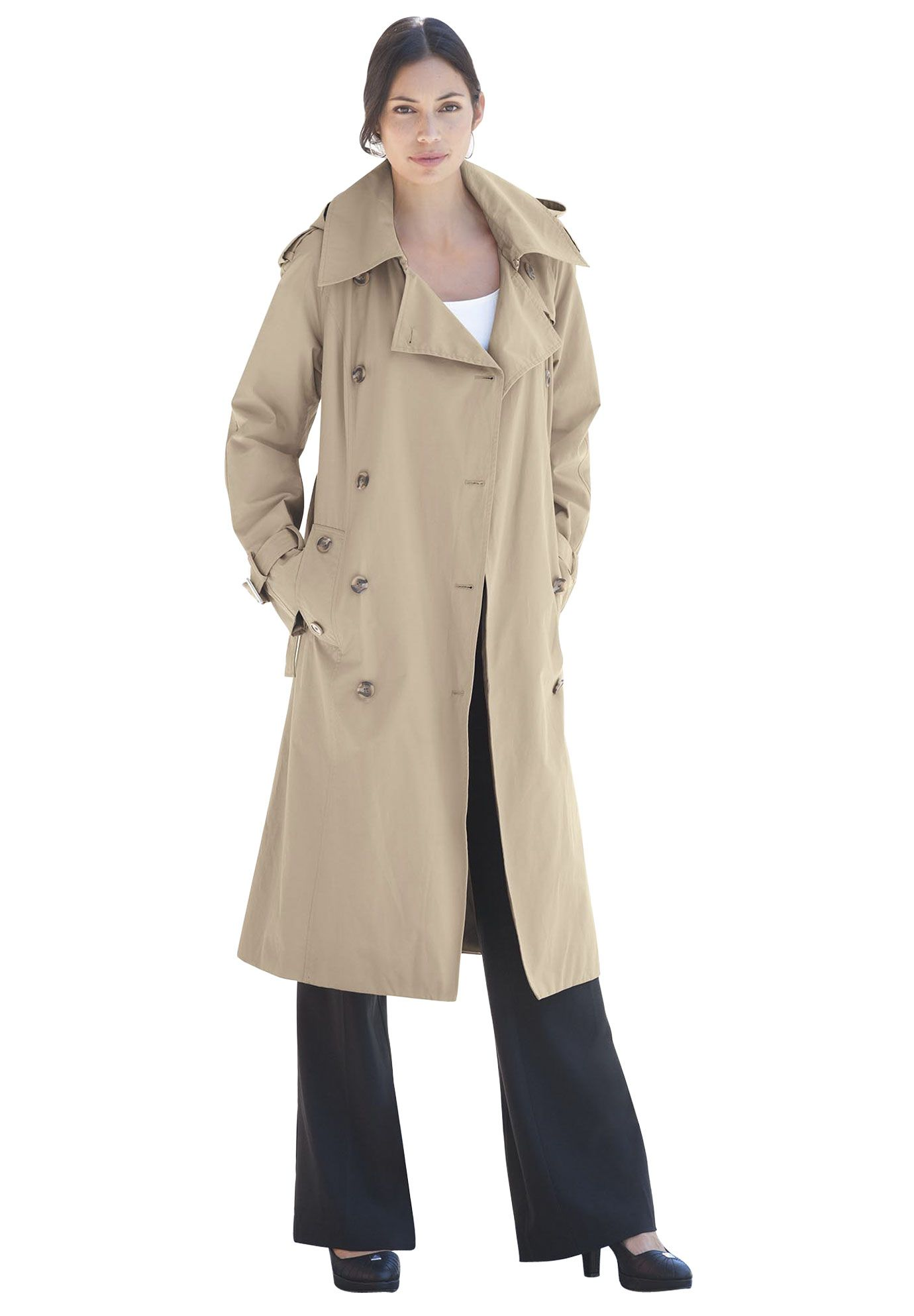 Double-Breasted Trench | Plus Size Coats | OneStopPlus