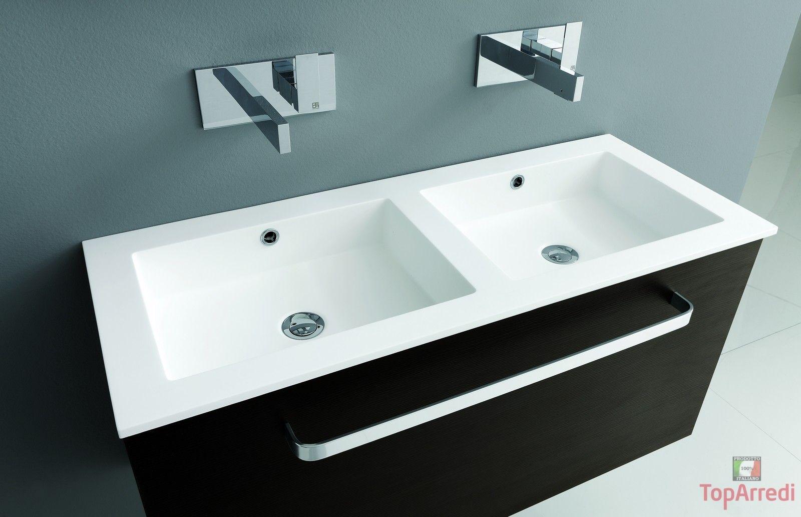 Mobile bagno doppio lavabo by arredamentiancona