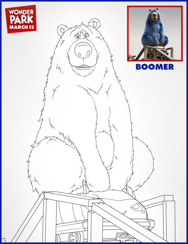 WONDER PARK: Free Coloring Pages and Printable Activities! #WonderPark -