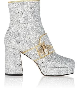 d27f8cea4 GUCCI Soko Glitter Platform Ankle Boots. #gucci #shoes #boots ...