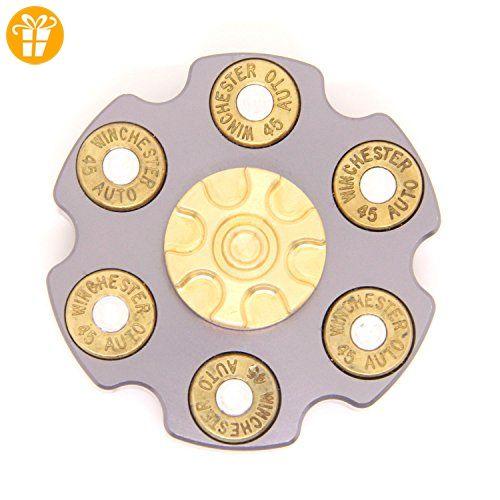 DUEBEL Revolver Fidget Spinner Ceramic Bearing Stainless Steel&Brass Gear Fidget Spinning Toy for EDC Collection Home Decoration - Fidget spinner (*Partner-Link)