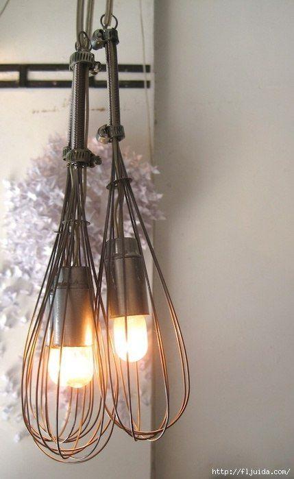 Idee illuminazione. Love this idea for a country kitchen!   Idee ...
