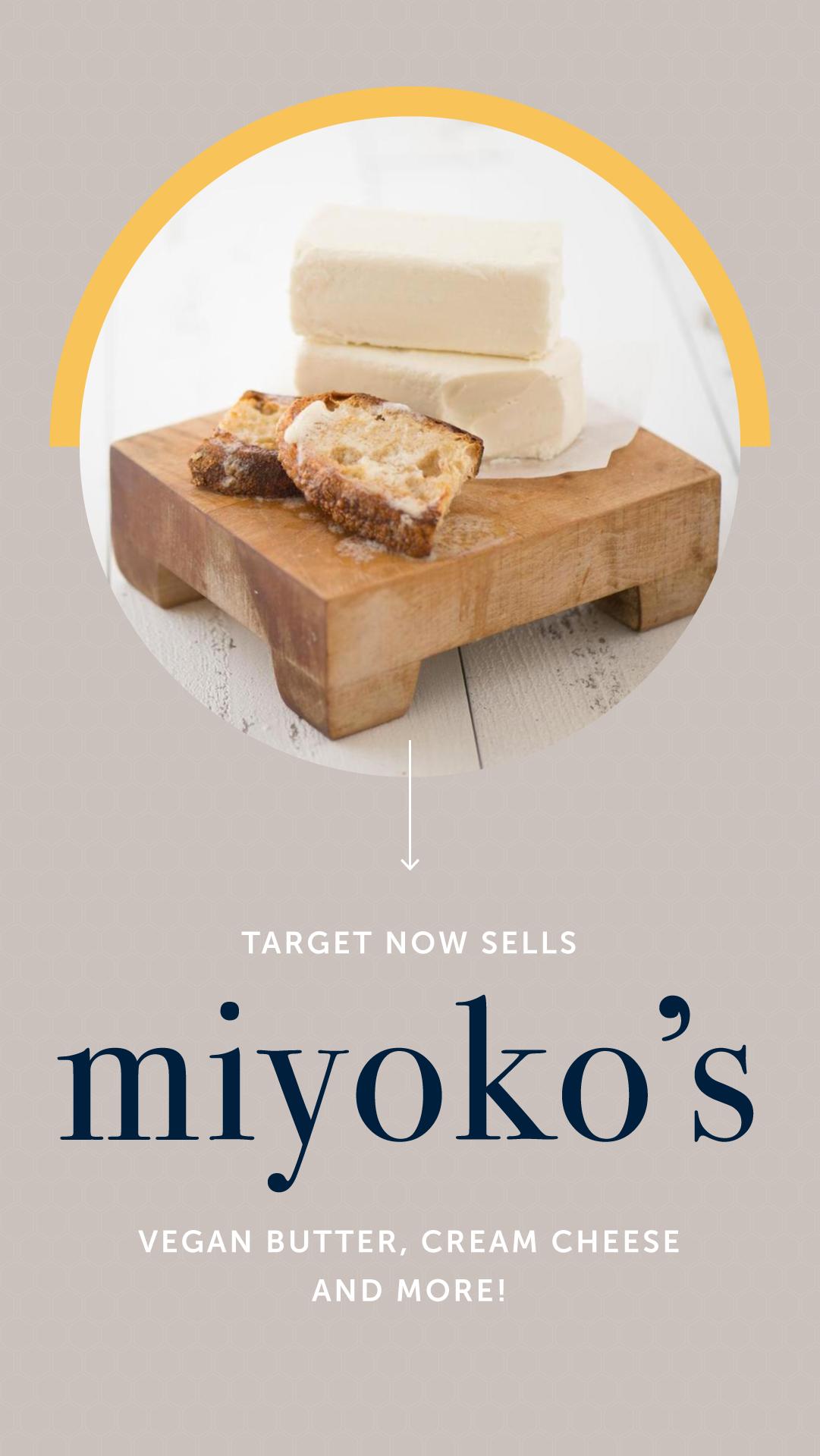 Target Now Sells Miyoko S Vegan Butter Cream Cheese And More Vegan Butter Cheese Cream Cheese
