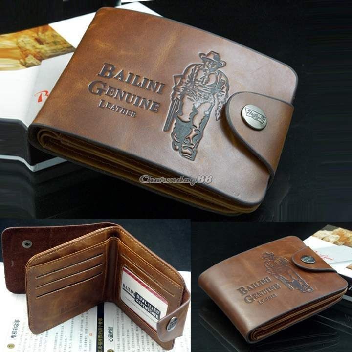 Men/'s Leather Clutch Multi Pocket Genuine Purse Fashion Cowboy Bifold Wallet