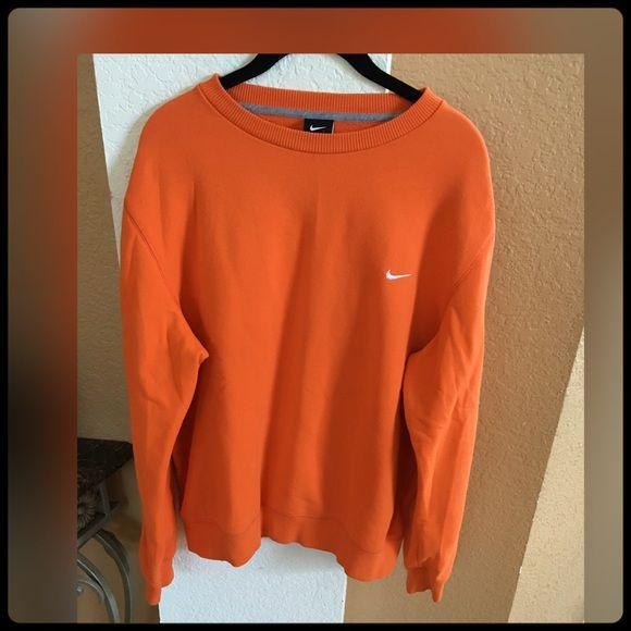NIKE ORANGE SWEAT SHIRT NEVER WORN SIZE LARGE IN MENS. Nike Tops Sweatshirts & Hoodies