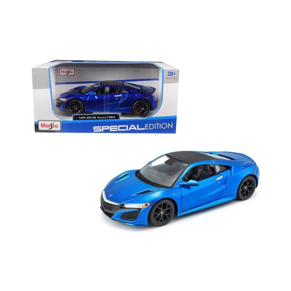 2018 Acura NSX Blue With Black Top 1/24 Diecast Model Car