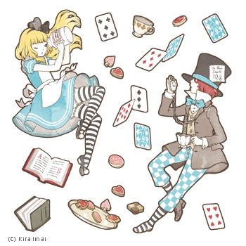 Alice in wonderland stickers by imai kira