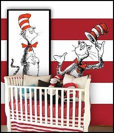 Dr Seuss Nursery Decorating Ideas Cat In The Hat Theme Bedroom Fun