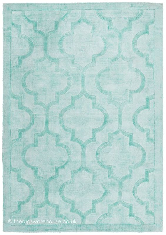 Eternity Green Rug A Hand Tufted 100 Viscose Modern In Mint