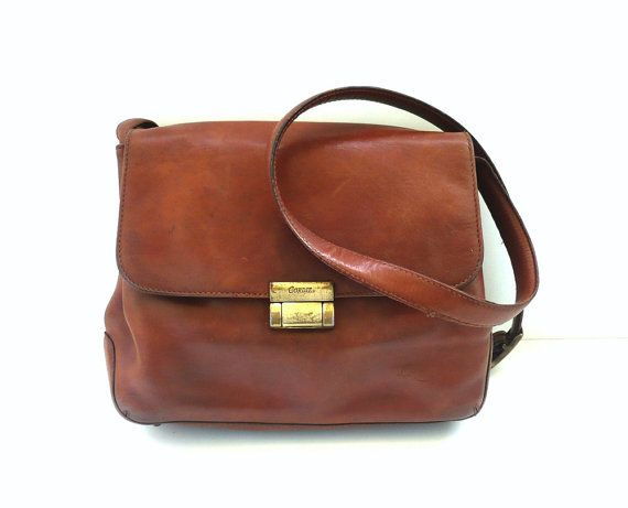 Brown Satchel Bag Leather Cordiz Crossover Vintage French HWeYED2I9