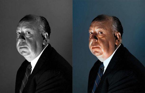 Alfred Hitchcock - 14 famosas e antigas fotos recolorizadas