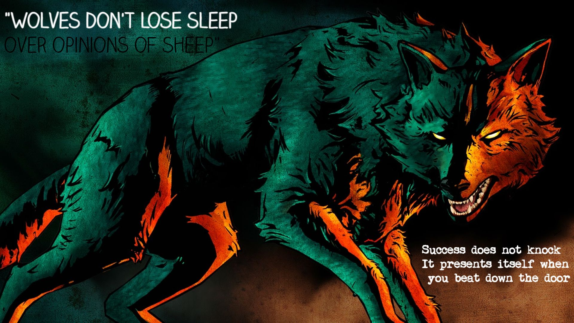 Wolf Painting With Inspirational Quotes 1920 1080 The Wolf Among Us Wolf Wolf Painting