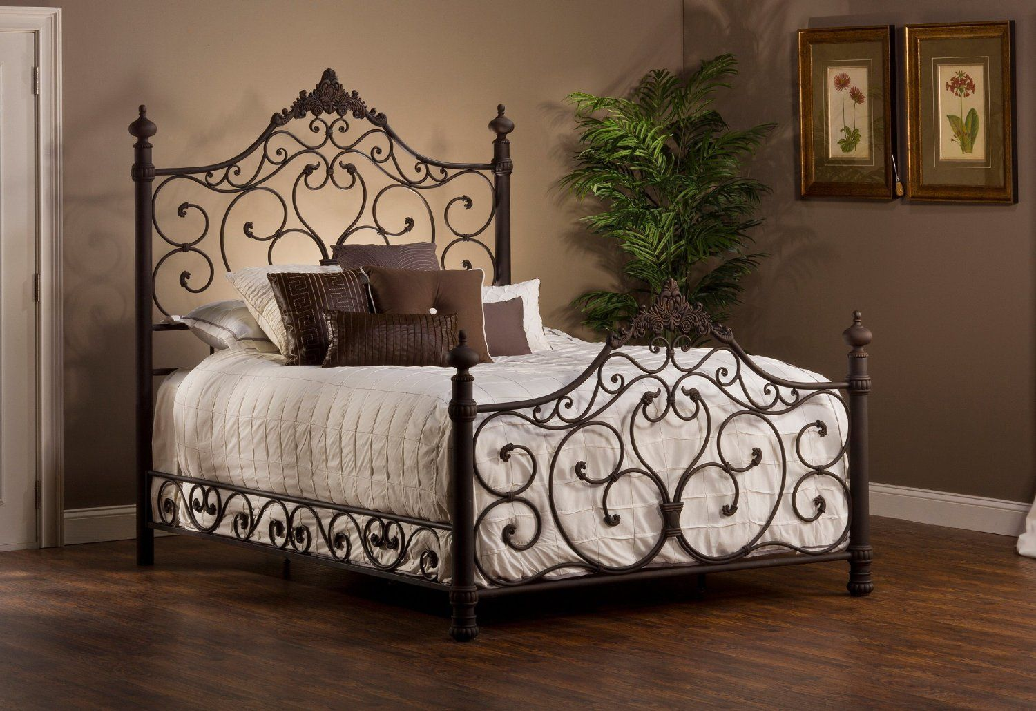 Amazon Com Hillsdale Baremore Bed In Antique Brown King Bed