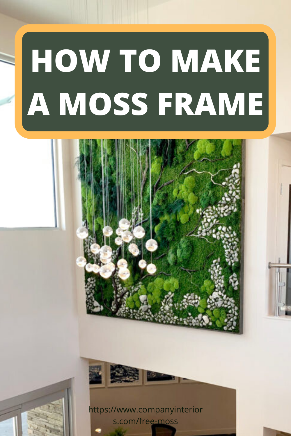 Learn How To Make A Moss Picture Frame Diy Framed Wall Art Moss Wall Art Frames On Wall