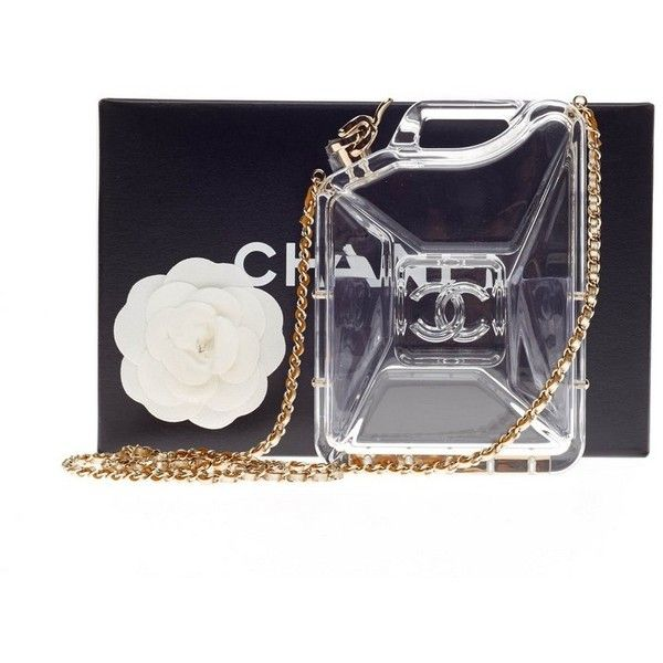 094f37907fa6 Pre-Owned Chanel Dubai By Night Gas Can Minaudiere Clear Plexiglass ...
