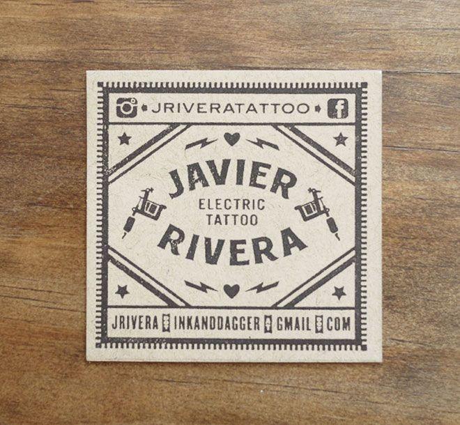 Suspenseful Graphics, typethatilike: Javier Rivera Tattoo Business ...