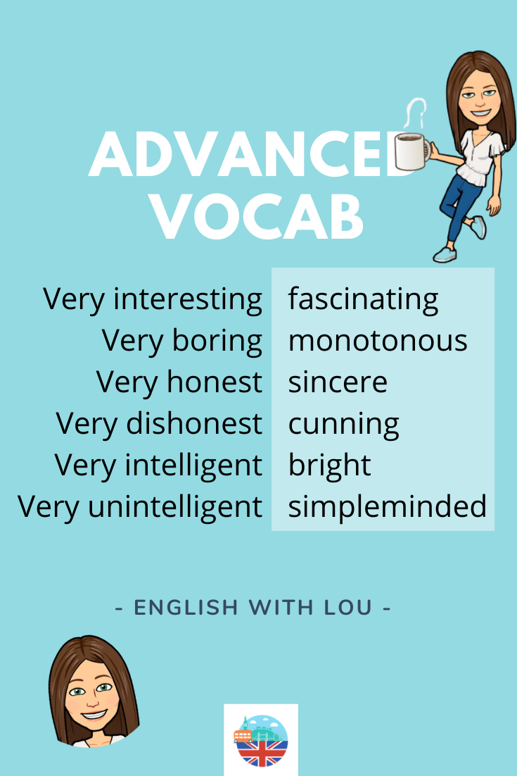 Learn English and use advanced vocabulary
