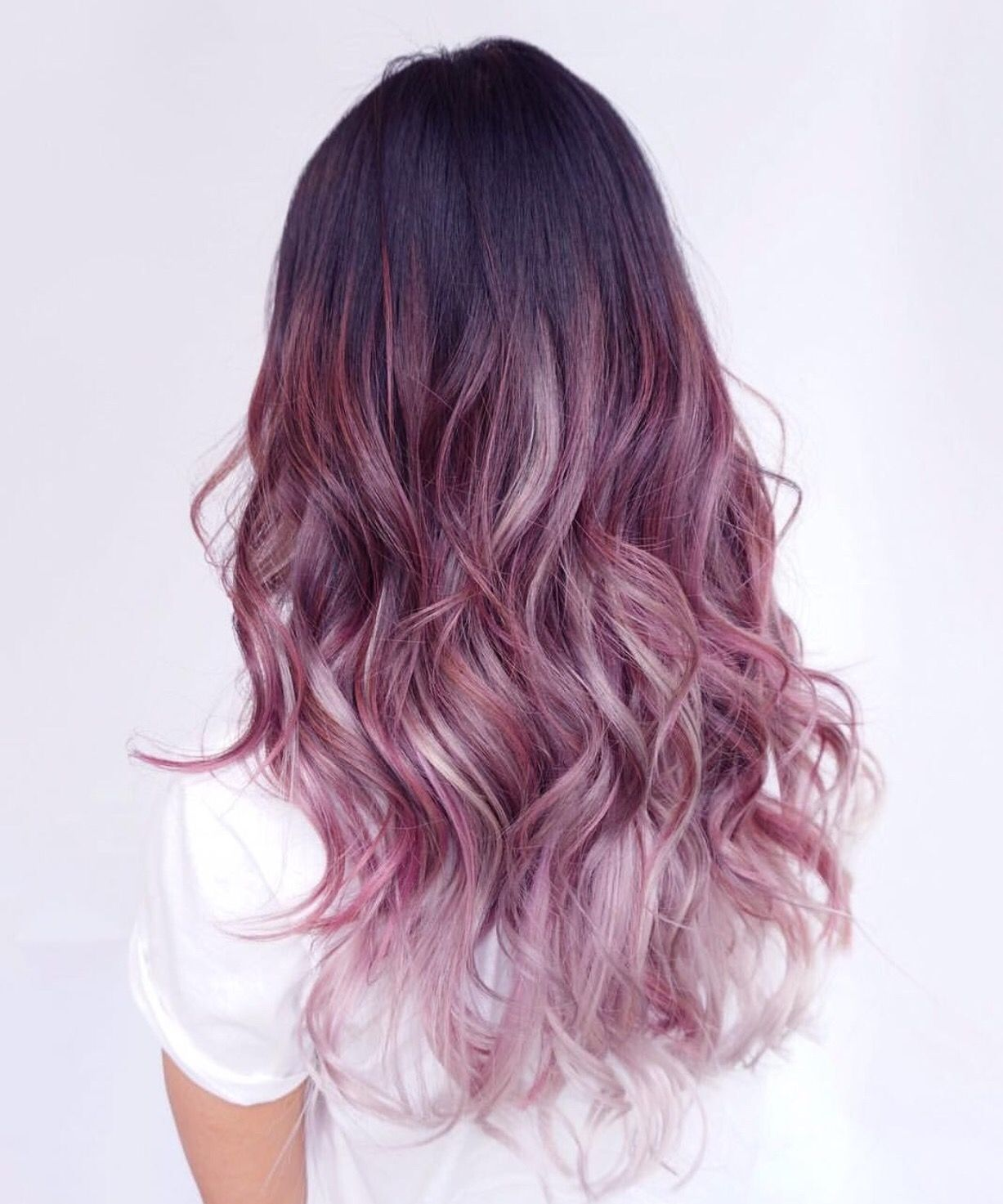 Lilac balayage  Hair styles, Ombre hair color, Long hair styles