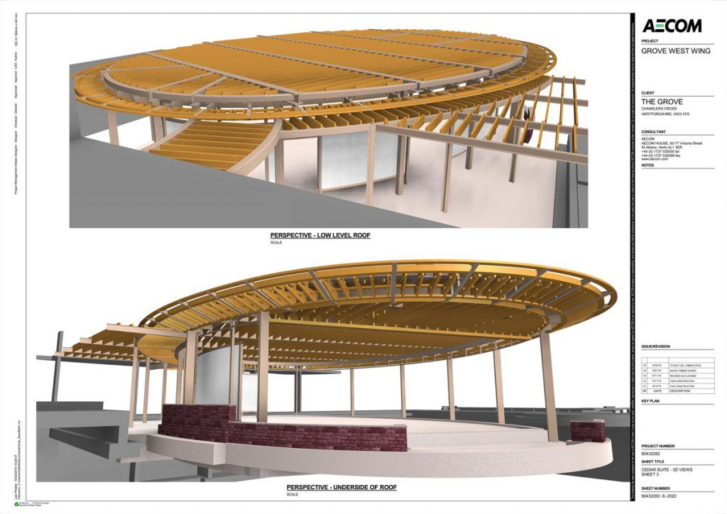 Copper Cladding An Ellipse The Cedar At The Grove In 2020 Cladding Roof Design Structural Plywood