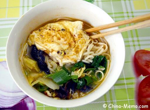 Chinese noodle soup with egg veggie recipe china memo food forumfinder Images