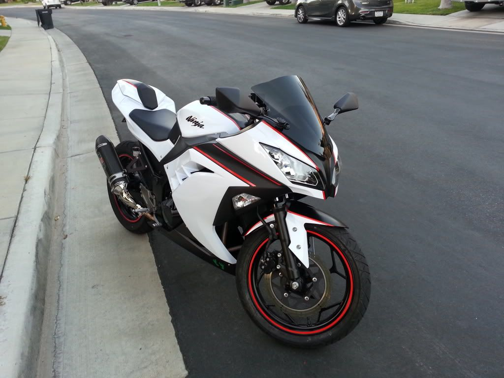 Kawasaki Ninja 300 Modded Badass Motorcycle Helmets