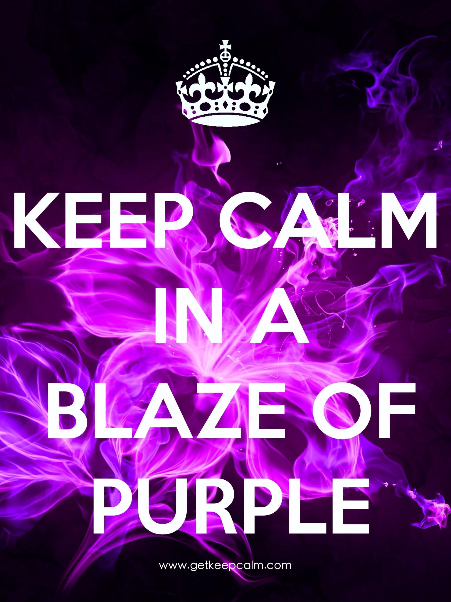 Keep Calm In A Blaze Of Purple By Iec