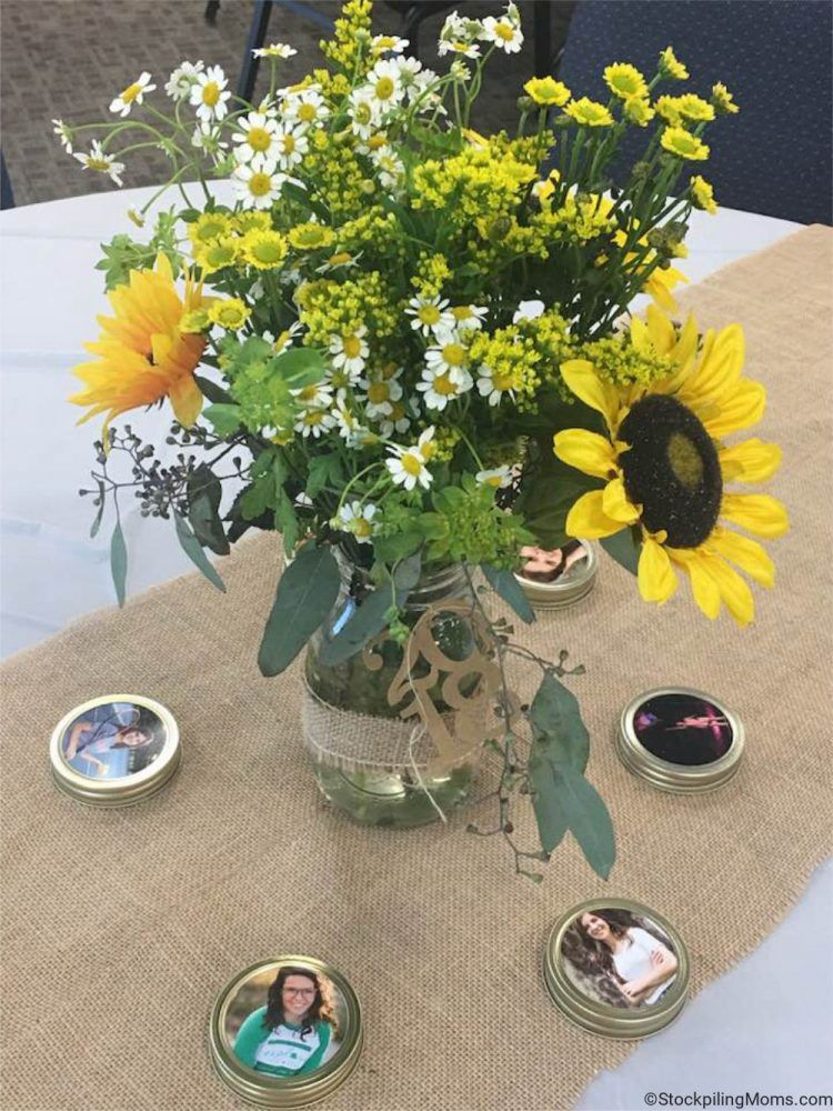 Inexpensive Rustic Graduation Table Centerpiece #graduationparties
