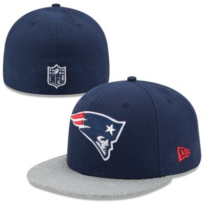 0721337cd Mens New Era Navy Blue New England Patriots 2014 NFL Draft 59FIFTY  Reflective Fitted Hat