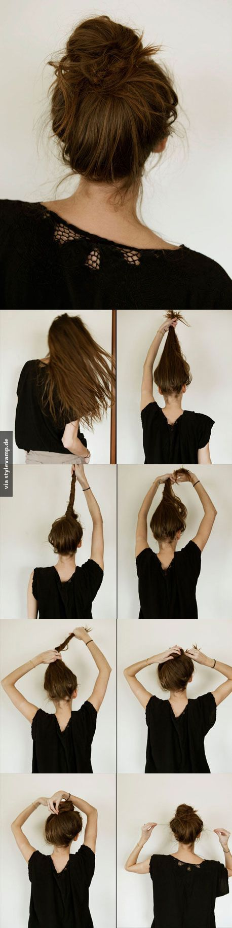 Der Perfekte Dutt 3 Long Hair Tutorial Hair Styles Hair Tutorial