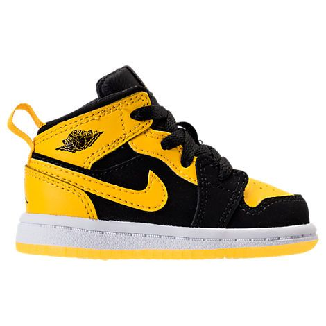hot sale online 89bde 74872 NIKE NIKE BOYS  TODDLER AIR JORDAN 1 MID CASUAL SHOES, YELLOW BLACK.  nike   shoes