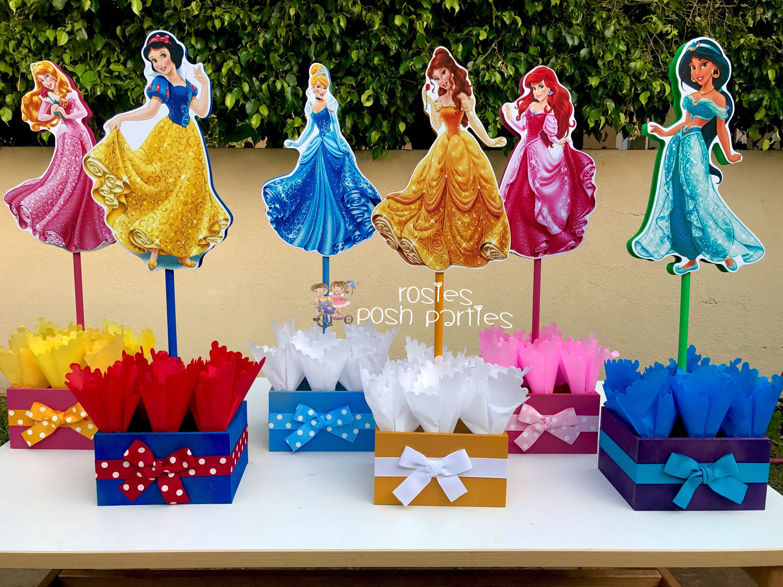 Disney Princess Party Napkins with Cinderella Rapunzel /& Belle Sleeping Beauty
