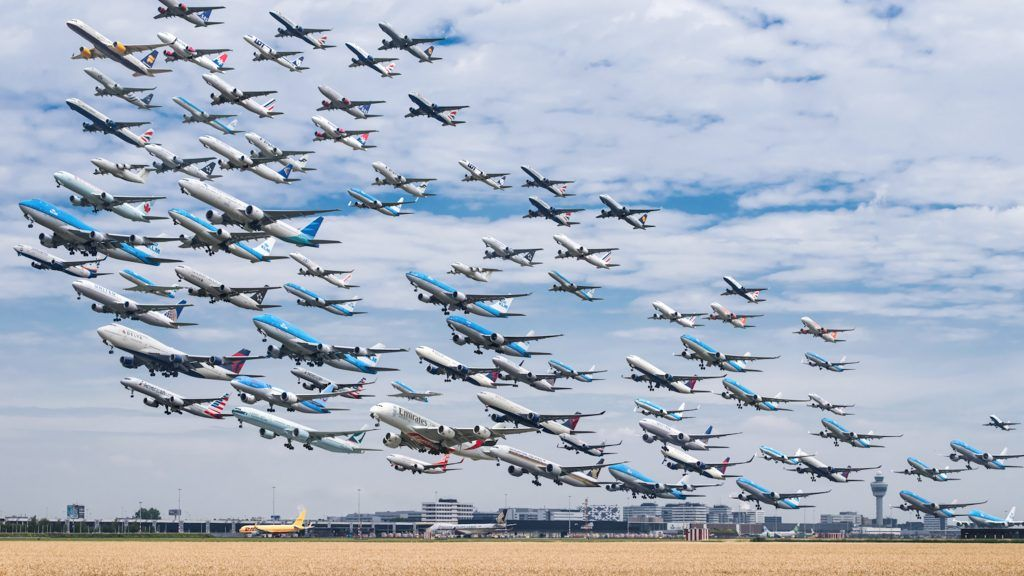 Man travelled to 18 different airports for 2 years to capture these photos