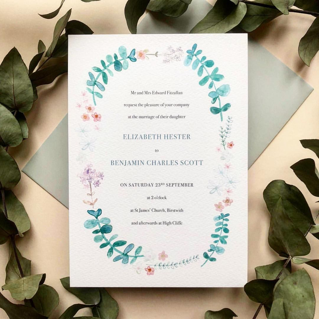Hand painted watercolour eucalyptus wreath by Hollyhock Lane from ...