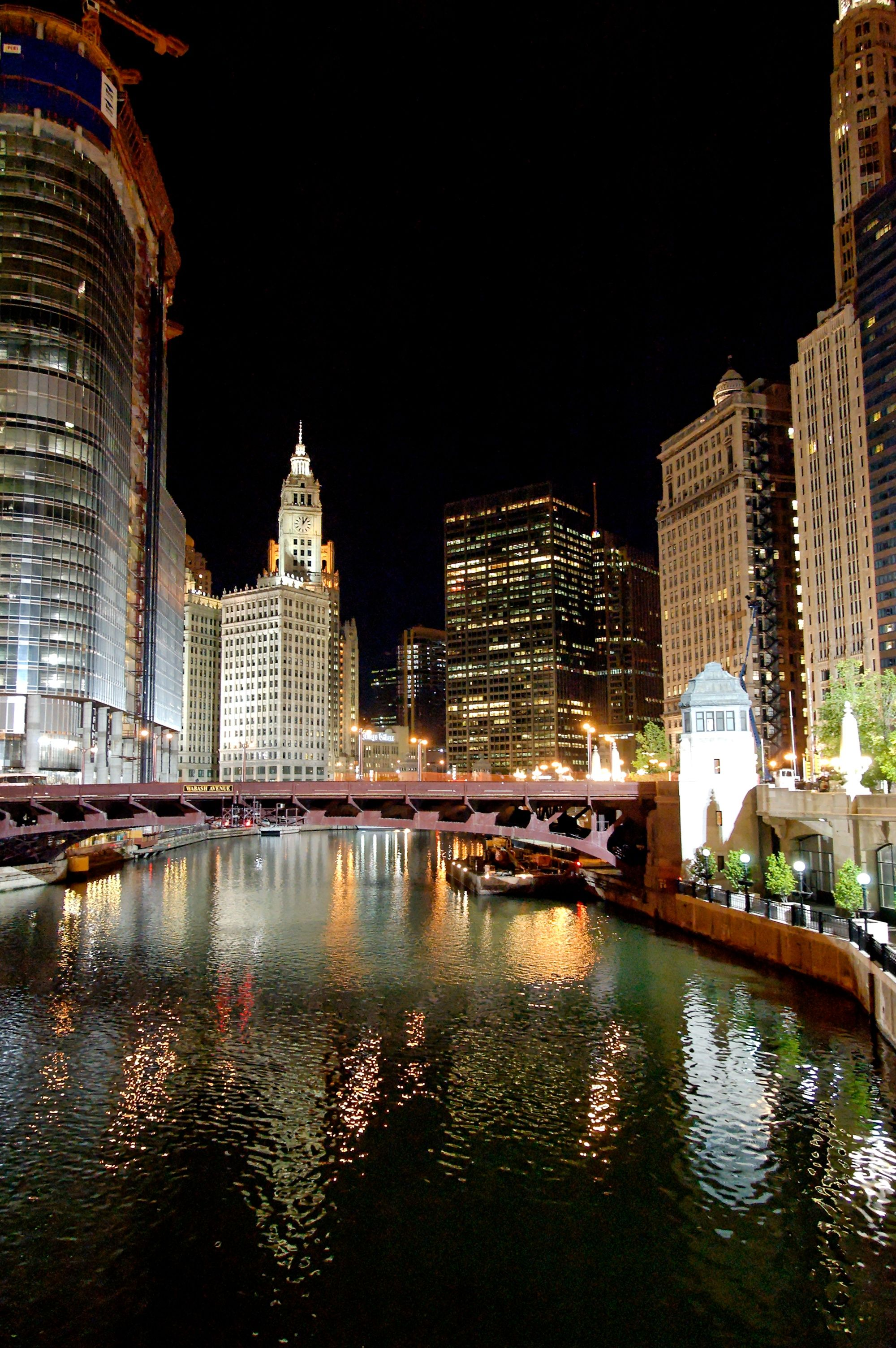 chicago at night, spent several times in chicago with my husband and