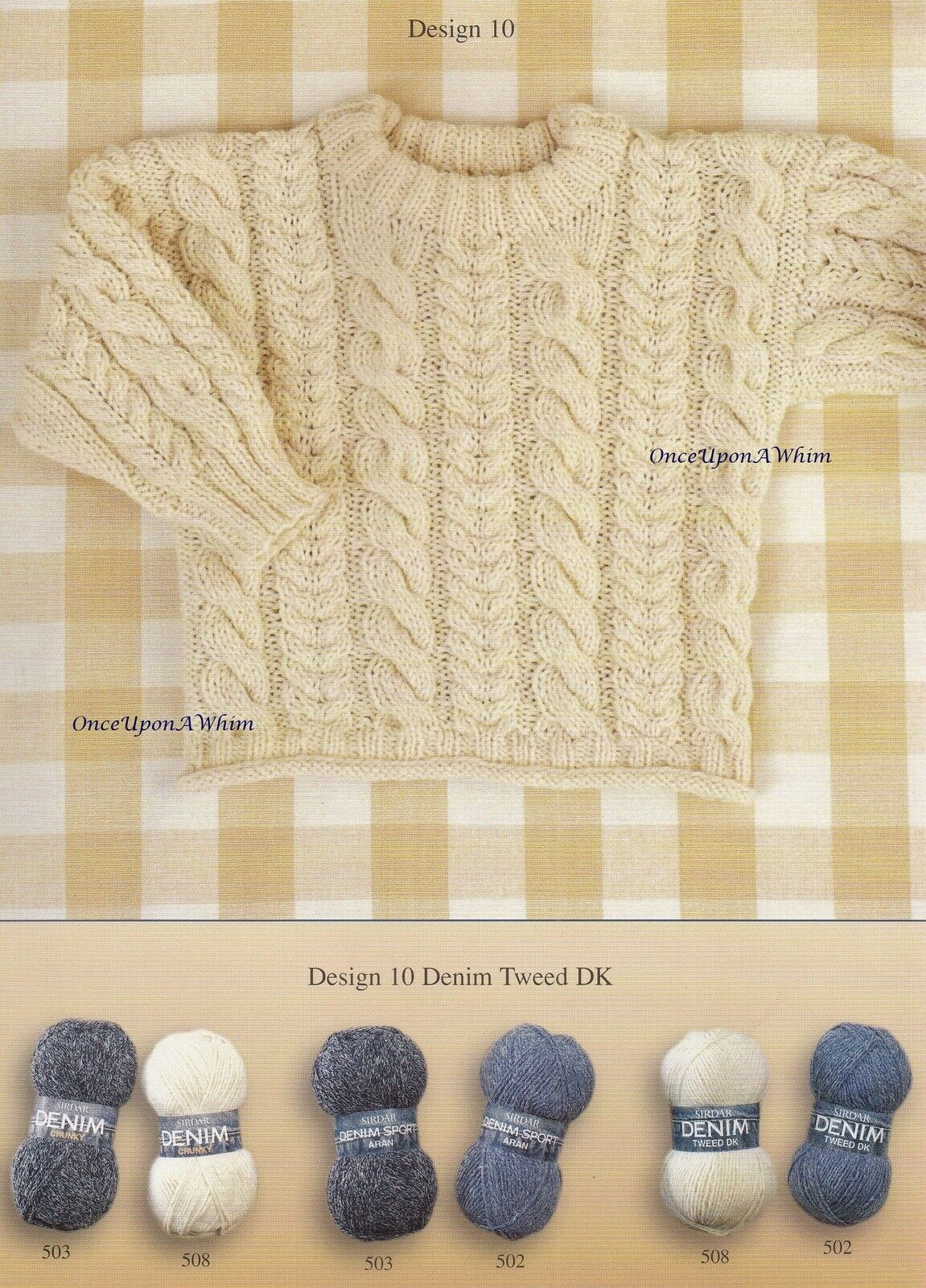 Details About Babies In Denim Sirdar Baby Clothes Knitting Pattern