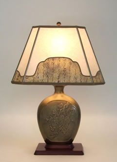 Antique Brass Table Lamp With G S And Leaves Parchment Paper Lampshade With Decorative Border  Living Room Dining Room Combined Pinterest